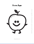 free food coloring pages apple