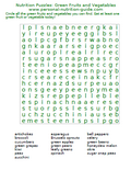 nutrition puzzles green