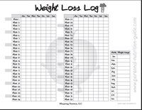 free printable weight loss log