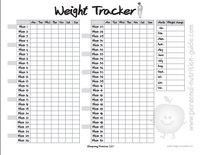 free printable weight tracker